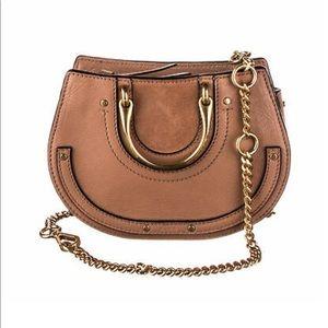 CHLOE Nougat Calfskin Suede Mini Pixie Belt Bag